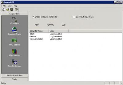 2X SecureRDP for Terminal Services 4.0 screenshot