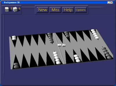 3D Backgammon 1.6 screenshot
