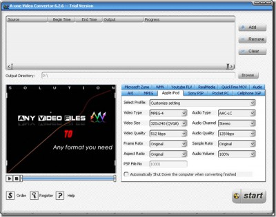 A-one Video Convertor 7.6.3 screenshot