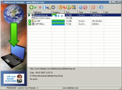 AbleGet 8.6 screenshot