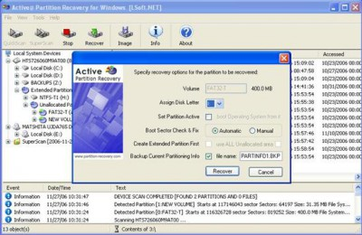 Active Partition Recovery 2.00 screenshot
