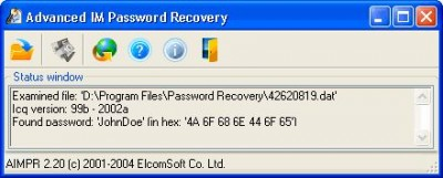 Advanced Instant Messengers Password Recovery 1.90 screenshot