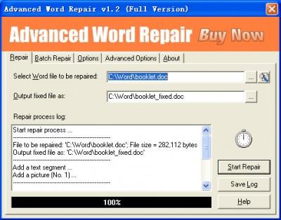 Advanced Word Repair 1.2 screenshot