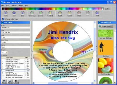 AudioLabel CD Labeler 2.20 screenshot