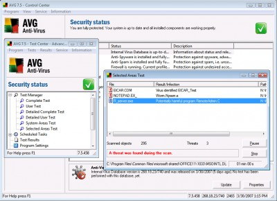 AVG Internet Security 7.5.448a972 screenshot
