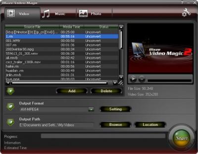 Blaze Video Magic 2.0 screenshot