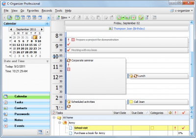 C-Organizer Pro 6.2.1 screenshot