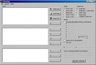 CloneSpy 2.3 screenshot