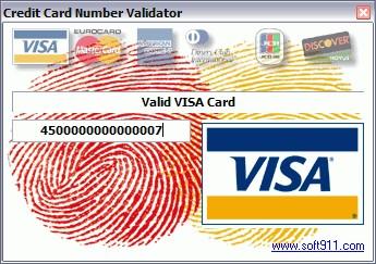 Credit Card Number Validator 1.1 screenshot