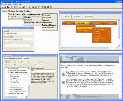 DHTML Menu Studio Professional Edition 4 screenshot