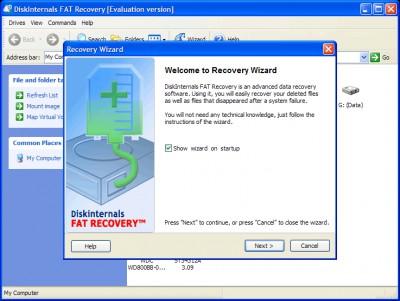 DiskInternals FAT Recovery 3.7 screenshot