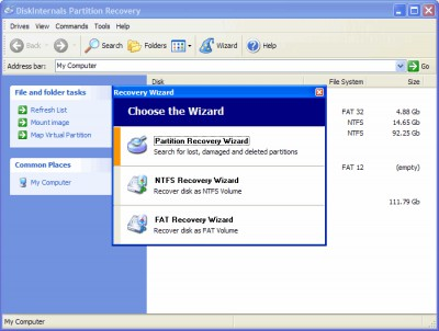 DiskInternals Partition Recovery 3.8 screenshot
