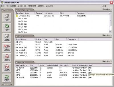 DriveCrypt  screenshot