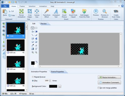 Easy GIF Animator 7.3 screenshot