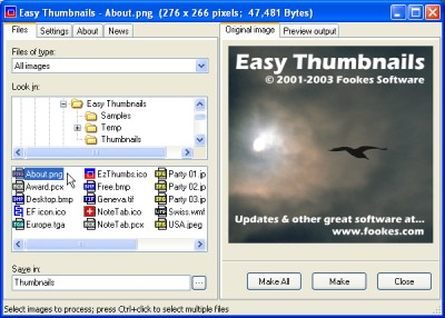 Easy Thumbnails 3.0 screenshot