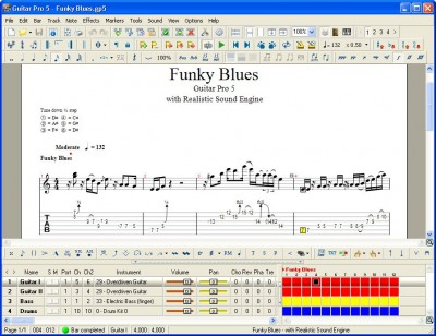 Guitar Pro 5.2 screenshot