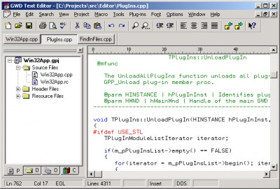 GWD Text Editor 3.2 screenshot