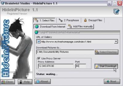 HideInPicture 1.0 screenshot