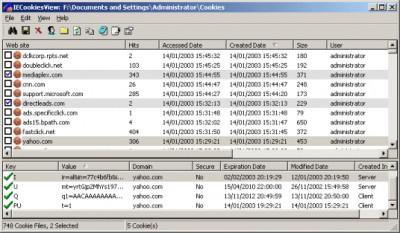 IECookiesView 1.79 screenshot