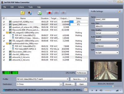 ImTOO PSP Music Suite 6.0.14.110 screenshot