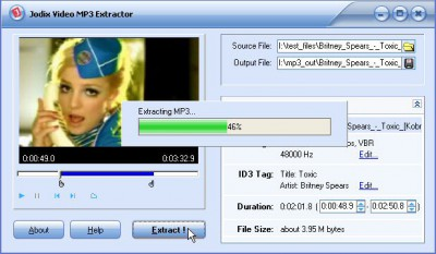 Jodix Video MP3 Extractor 1.12 screenshot