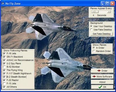 No Fly Zone! Screensaver 2.23g screenshot