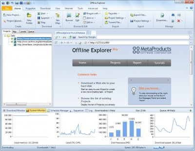 Offline Explorer Pro 7.5 screenshot