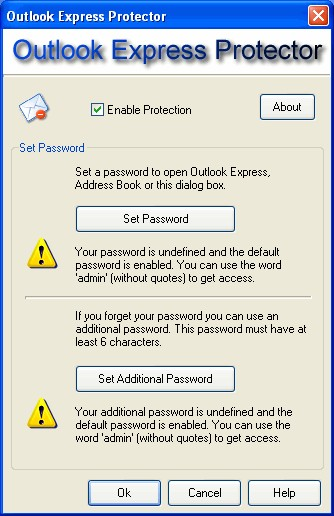 Outlook Express Protector 2.394 screenshot