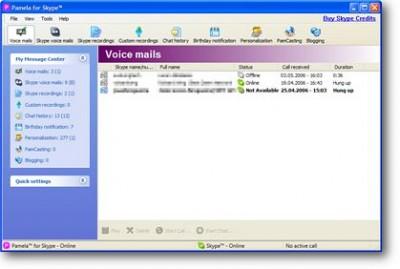 Pamela for Skype 2.0 screenshot