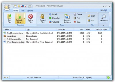 PowerArchiver 2007 10.20.21 screenshot