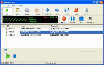 Red Call Recorder 1.1 screenshot