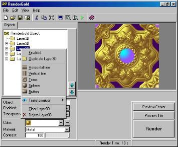 RenderGold 2.5 screenshot