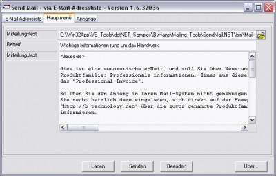 Send Mail 2.0 screenshot