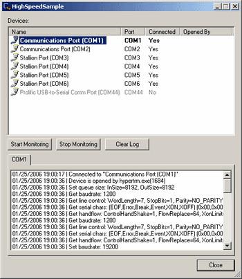 Serial Port Monitoring Control 2.14.00.32 screenshot