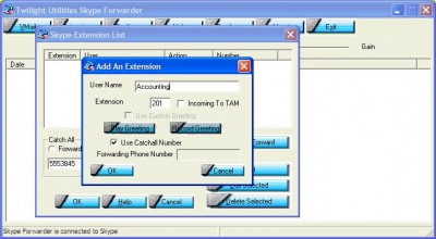 Skype Forwarder 1.7.3.1 screenshot