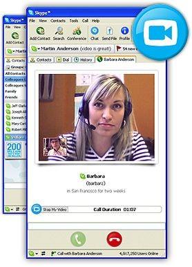 Skype 2.0.0.6 screenshot