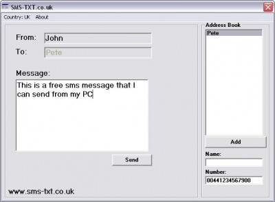 SMS-TXT 1.0 screenshot