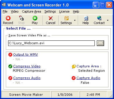Webcam and Screen Recorder 8.0.338 screenshot