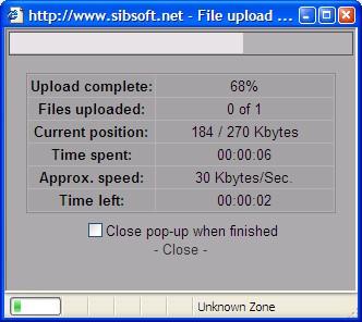 XUpload 2.0 screenshot