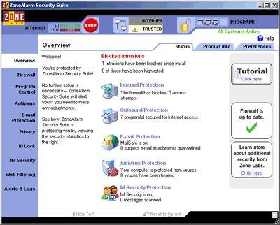 ZoneAlarm Security Suite 7.0.302.000 screenshot